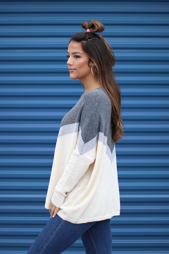 Chevron Knit Sweater - Madison + Mallory
