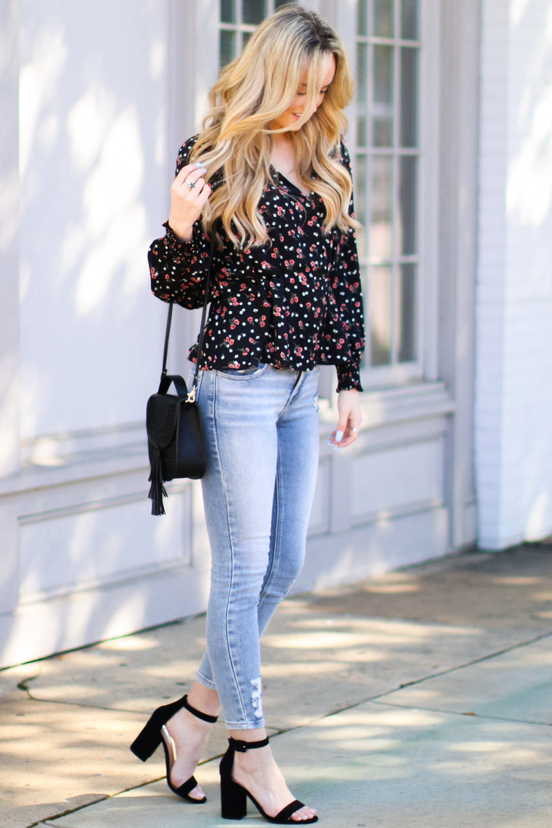 Meadow Path Floral Top - Madison and Mallory
