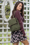 Olive Drawstring Backpack - Madison + Mallory
