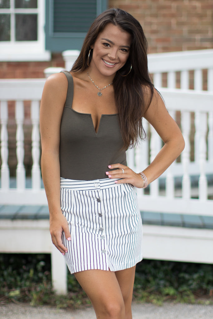 Brylee Striped Skirt - Madison + Mallory