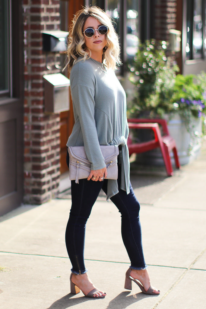 Pull it Together Tie Front Top - FINAL SALE - Madison + Mallory
