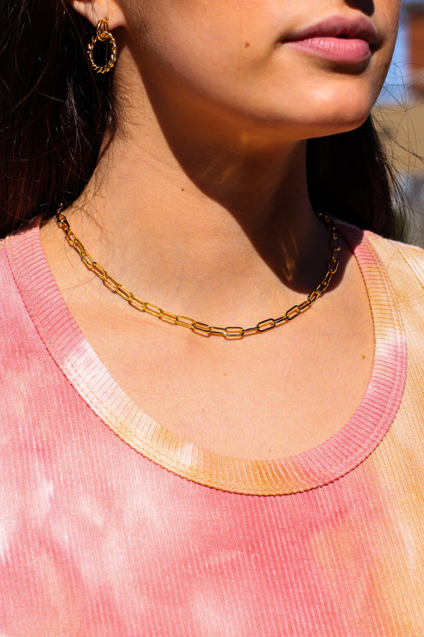 Gold Luxe Links Chain Necklace - Madison and Mallory