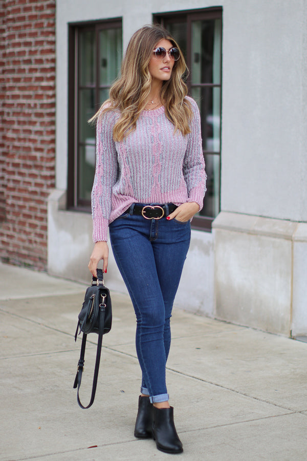 Avelyn Chenille Knit Sweater - Madison + Mallory