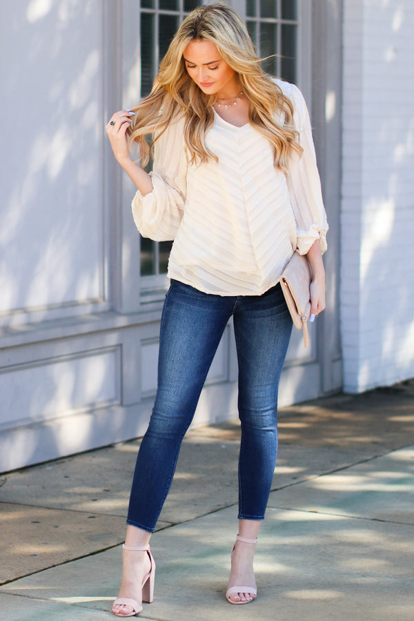 Kincaid Balloon Sleeve Top - Madison and Mallory