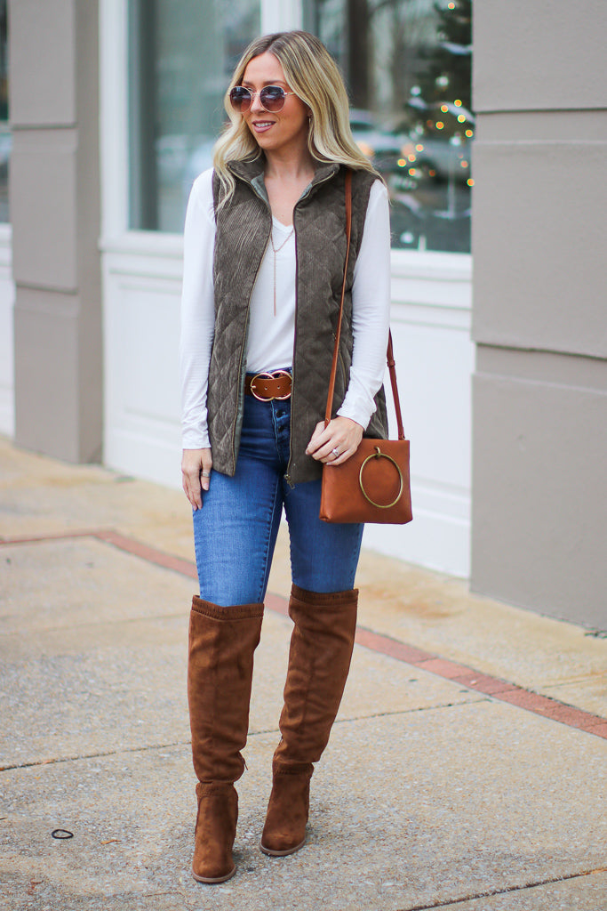 Chic Interest Quilted Vest - FINAL SALE - Madison + Mallory