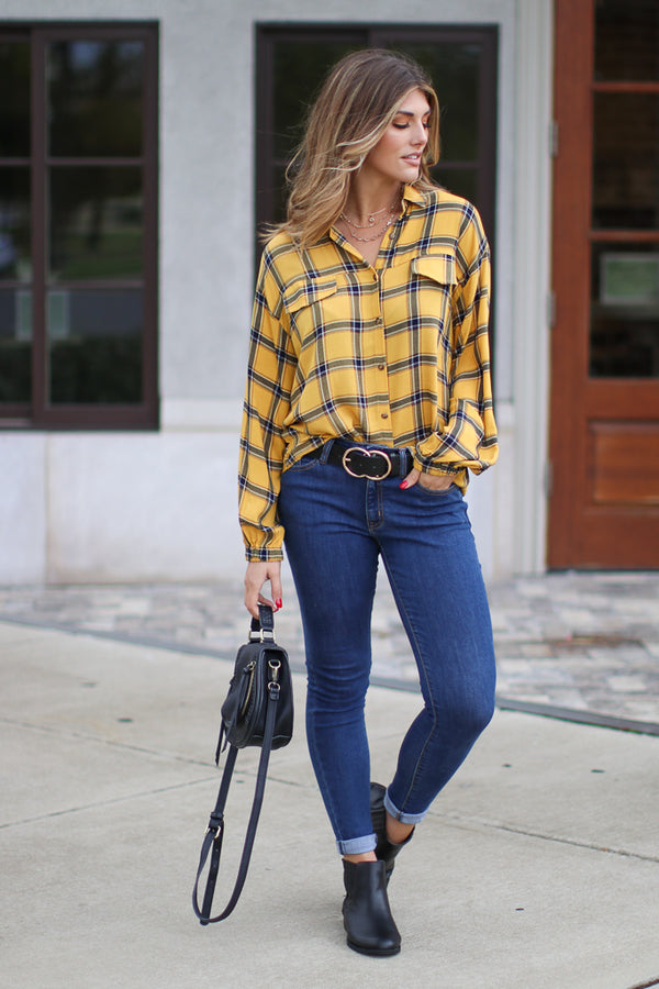Kyle Plaid Flannel Top - Madison + Mallory