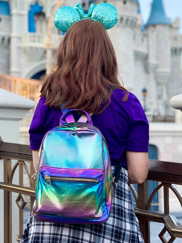Multi Metallic Rainbows Backpack - Madison + Mallory