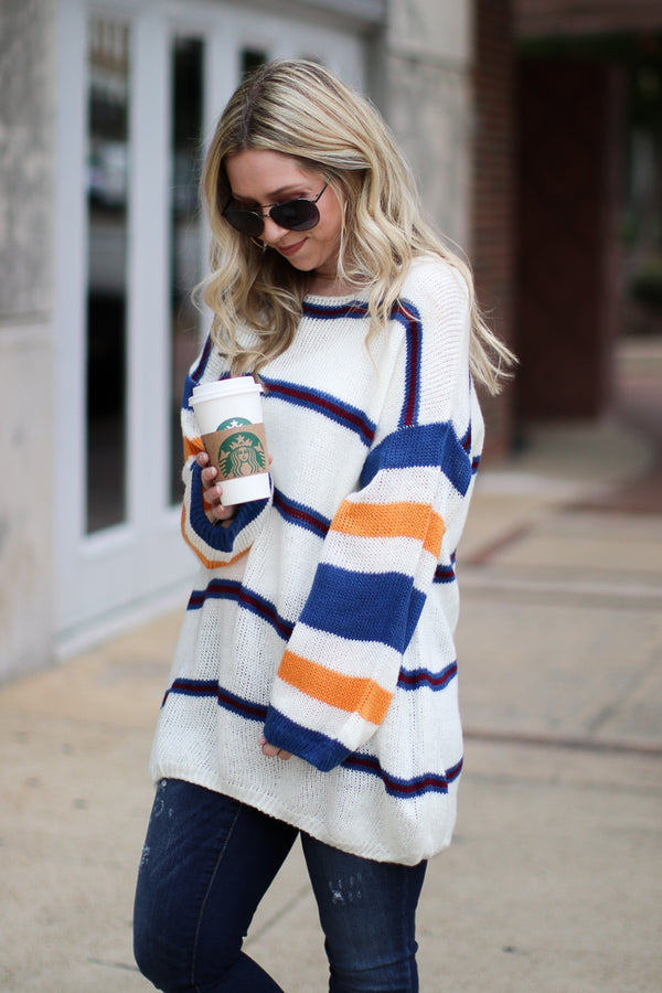 Libra Multi Stripe Sweater - Madison + Mallory