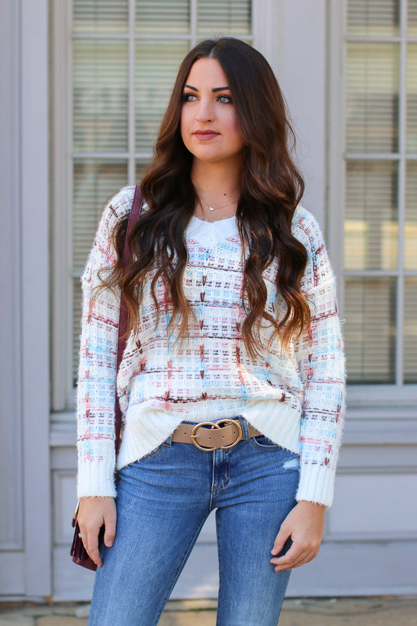 Ansel Multi Color Knit Sweater - Madison + Mallory