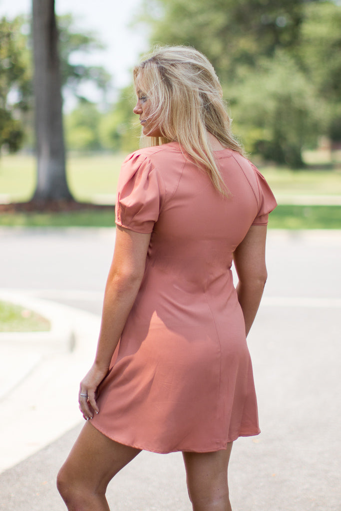 Eyelet Fit and Flare Dress - Madison + Mallory