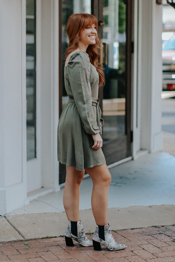 Chic and Charming Belted Dress - FINAL SALE - Madison and Mallory