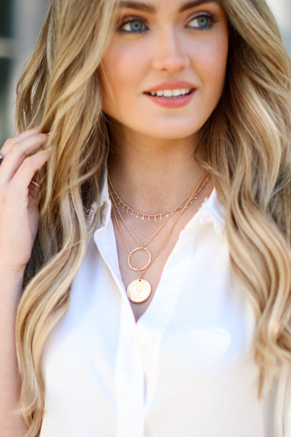 Eviana Layered Coin Necklace - Madison and Mallory