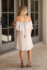 Off Shoulder Ruffle Shift Dress - Madison + Mallory