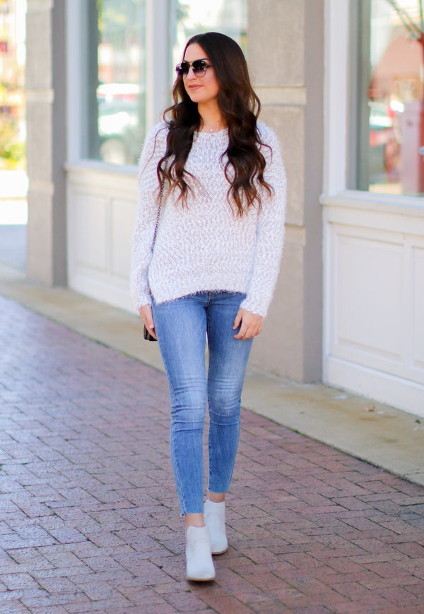 Justification Super Soft Fuzzy Knit Sweater - Madison + Mallory