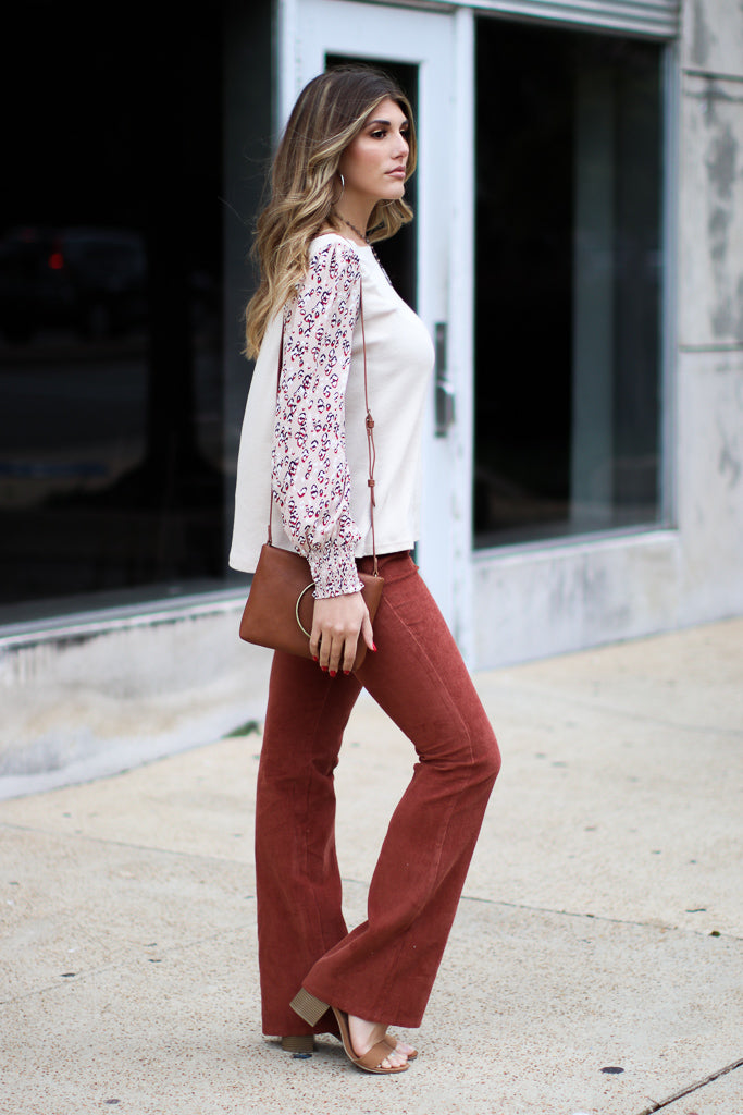 Daxton Washed Suede Wide Leg Pants - Madison + Mallory
