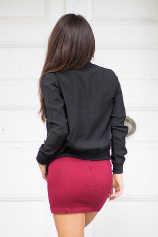 Why Not Patched Bomber Jacket - Madison + Mallory