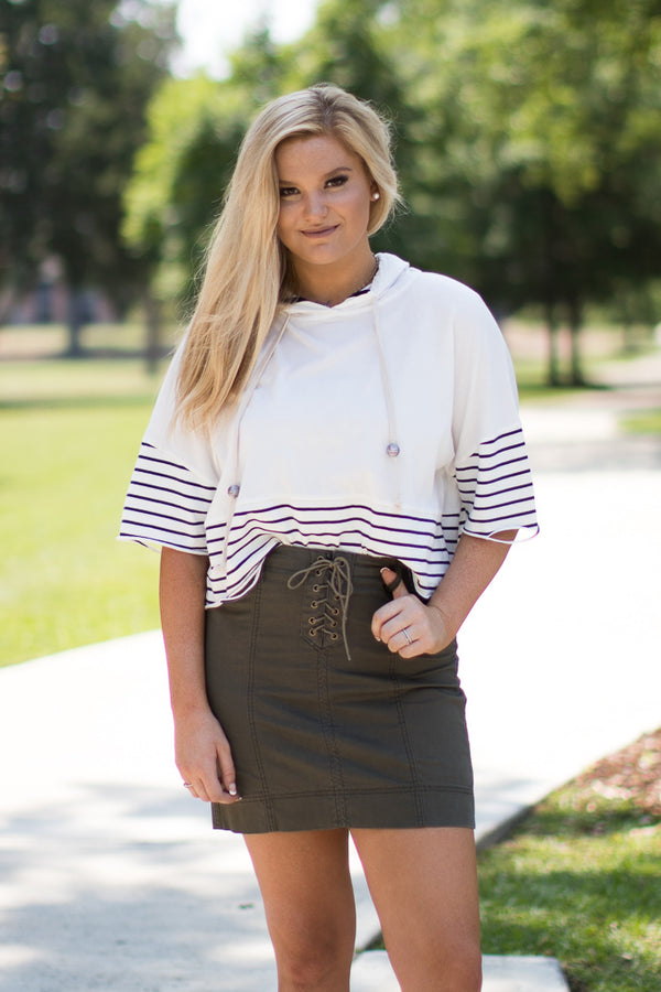 Lace Up Skirt | Curve - Madison + Mallory