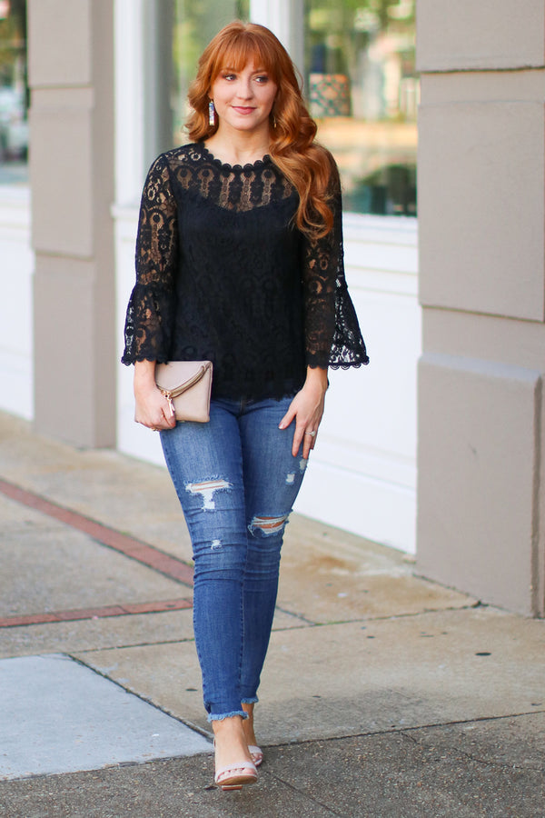 Luxe Lover Allover Lace Top - FINAL SALE - Madison + Mallory