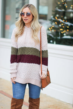M / Autumn Now and Then Hooded Pullover - Madison + Mallory