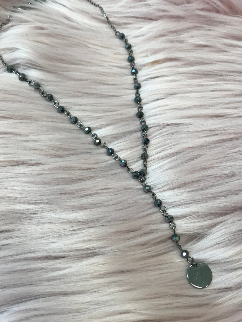 Black On the Edge Necklace - Madison + Mallory