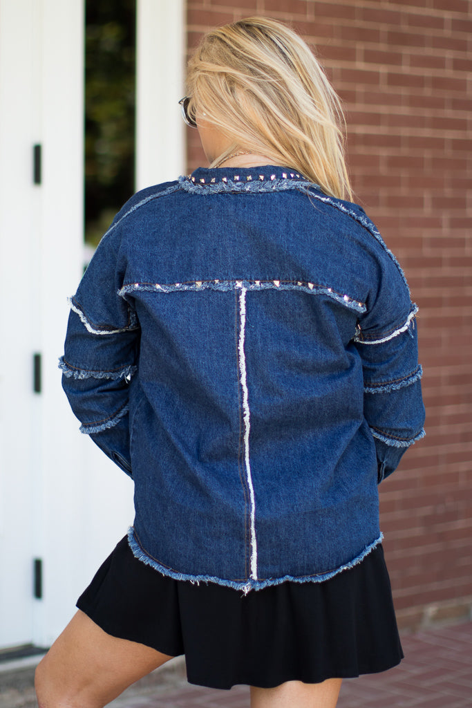 Happy Accidents Studded Jacket - Madison + Mallory