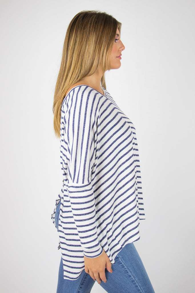 Aleah Striped Top - Madison + Mallory