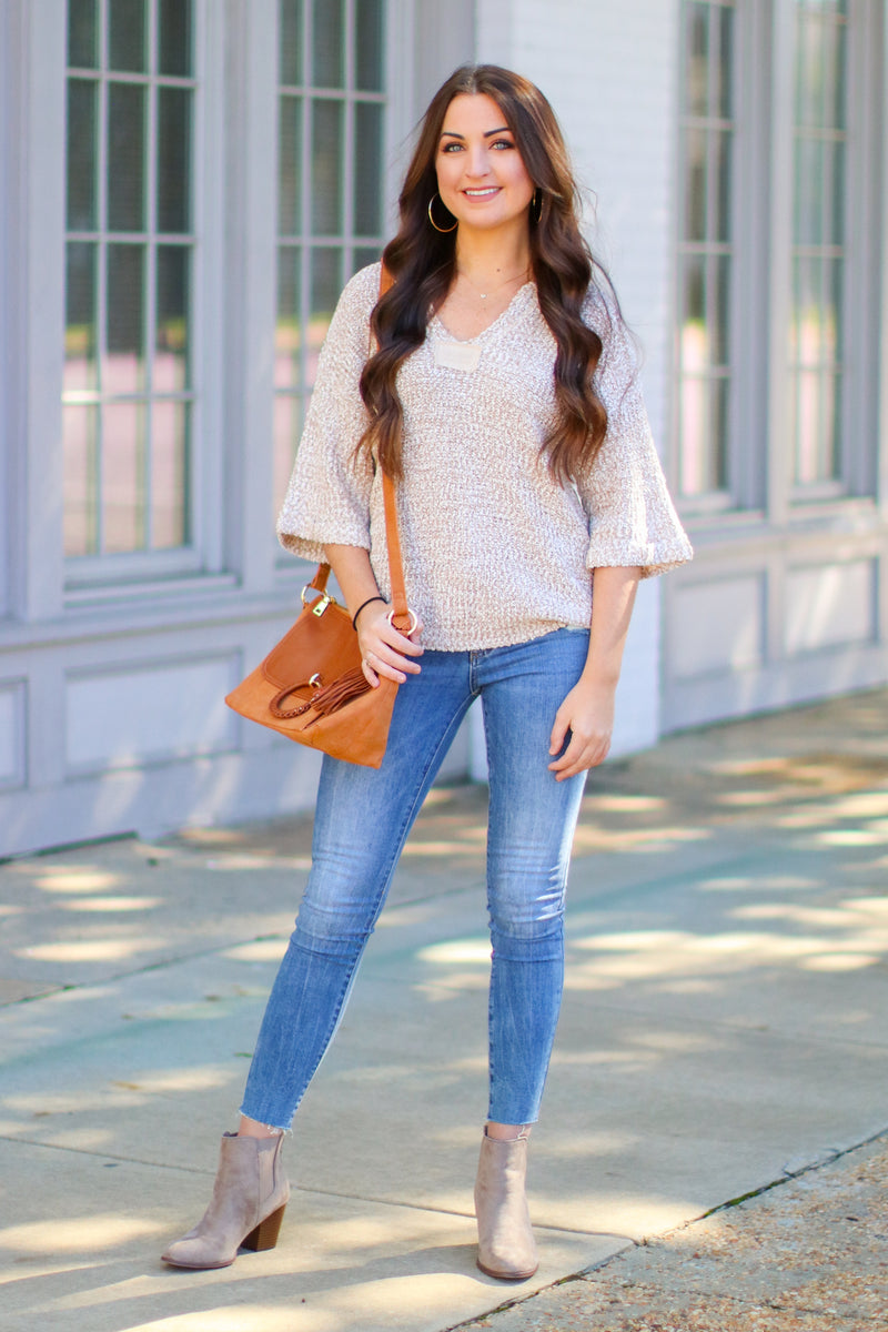 Fremont Split Neck Knit Top - Madison + Mallory