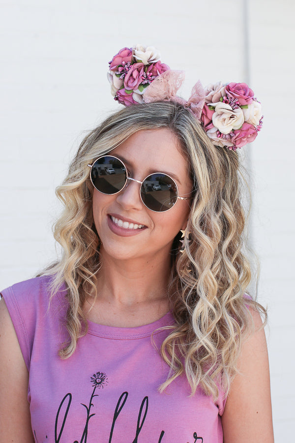 Multi Rose Blossom Floral Ears - Madison + Mallory