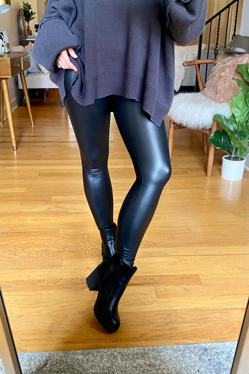 S / Black Your One Thing Faux Leather Leggings - Madison and Mallory