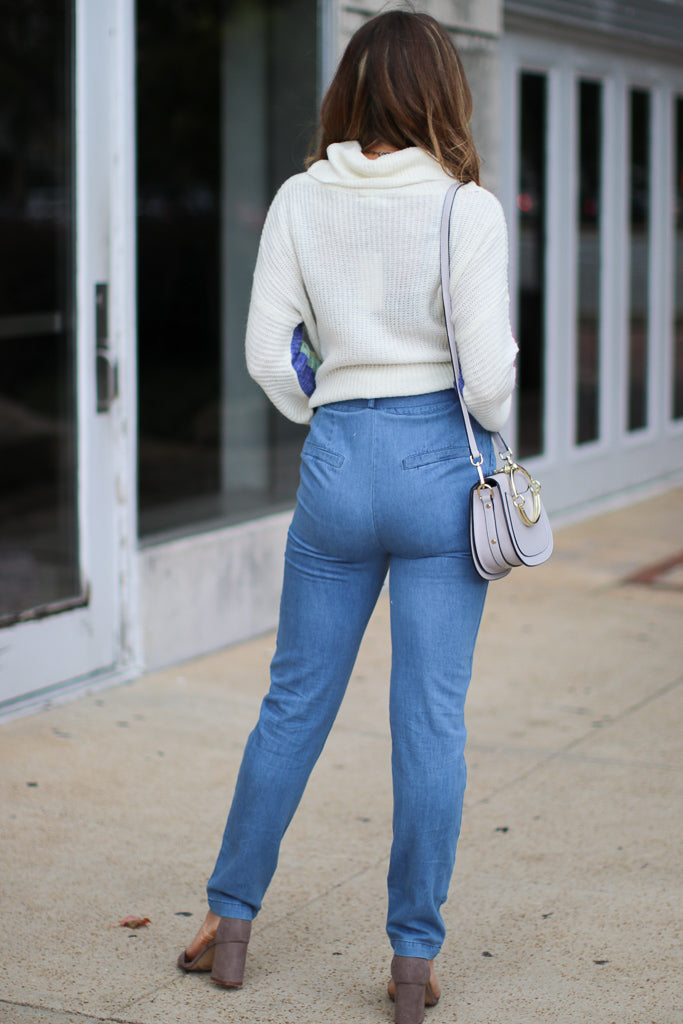 Jesse High Waisted Belted Jeans - FINAL SALE - Madison and Mallory