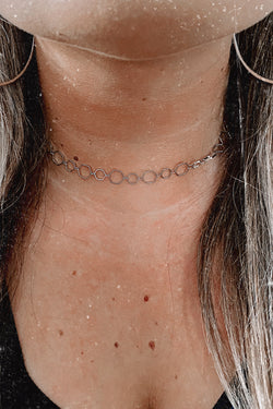 Silver Montane Hexagon Chain Necklace - Madison and Mallory