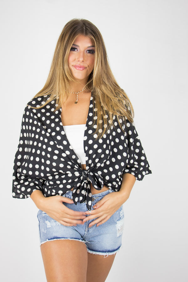 Right on the Dot Kimono - Madison + Mallory