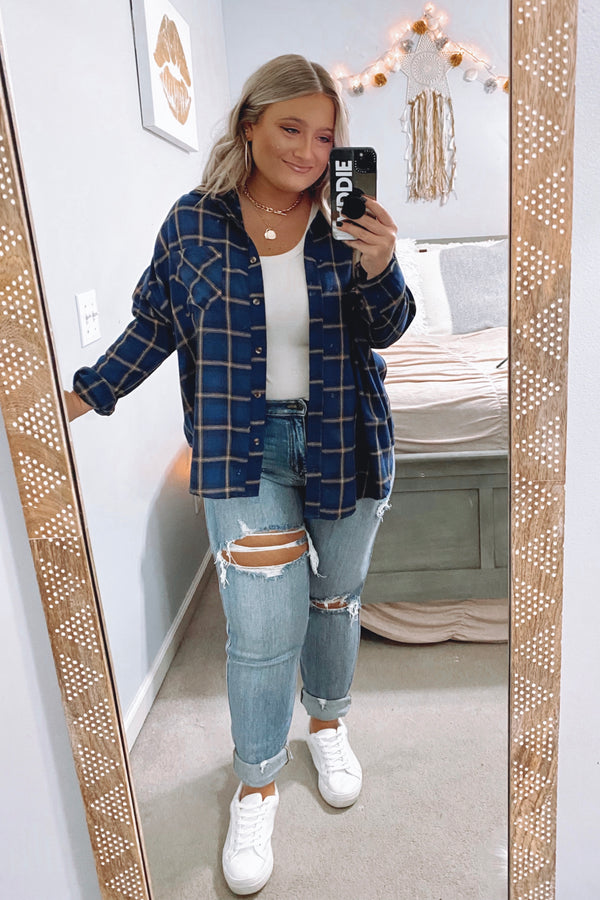 Syracuse Button Down Plaid Top - Madison and Mallory