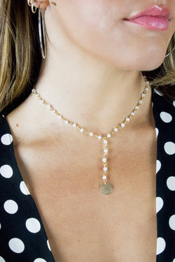 On the Edge Necklace - Madison + Mallory
