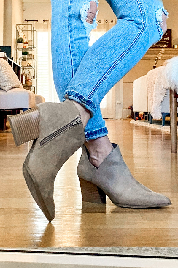 Second Glances Cutout Booties - Madison and Mallory