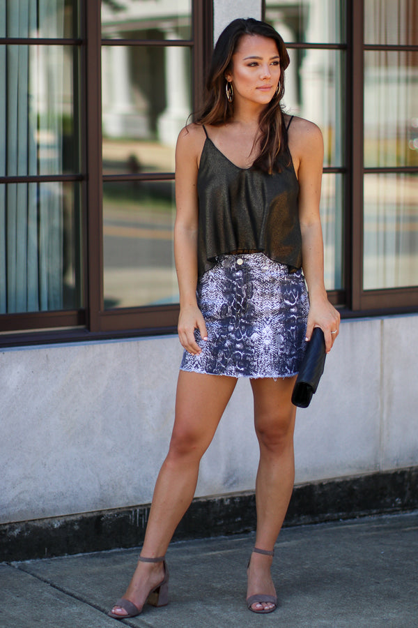 Nagini Snake Print Skirt - Madison + Mallory