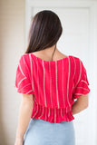 Short Sleeve Striped Top - Madison + Mallory