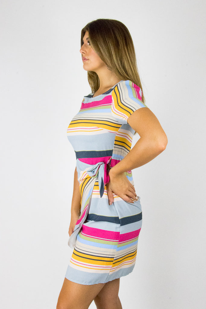 Wrapped Up Stripe Dress - Madison + Mallory