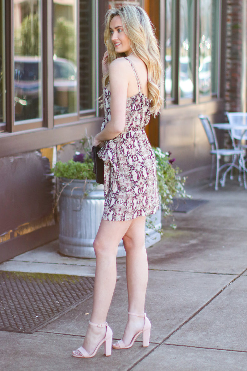 Come Slither Snake Print Wrap Dress - Madison and Mallory
