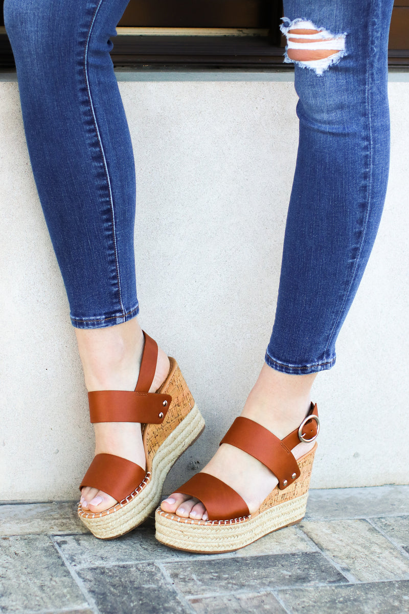 The Right Moves Espadrille Wedges - Tan - Madison and Mallory