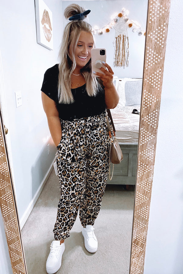 S / Brown Dare to Be Wild Leopard Print Pants | Curve - Madison and Mallory
