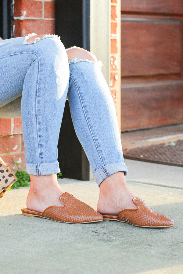 Relatable Love Woven Slip On Mules - Madison + Mallory