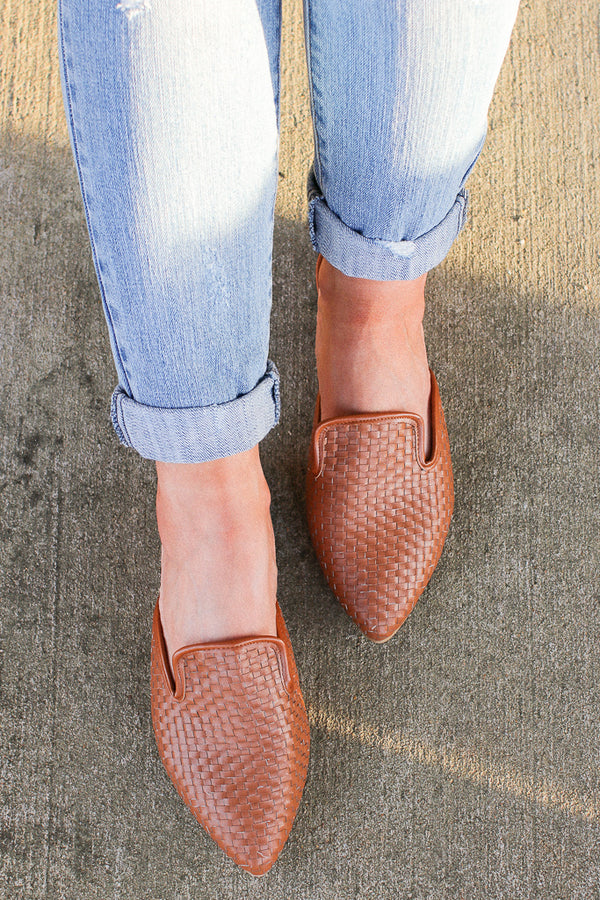 6 / Tan Relatable Love Woven Slip On Mules - FINAL SALE - Madison and Mallory