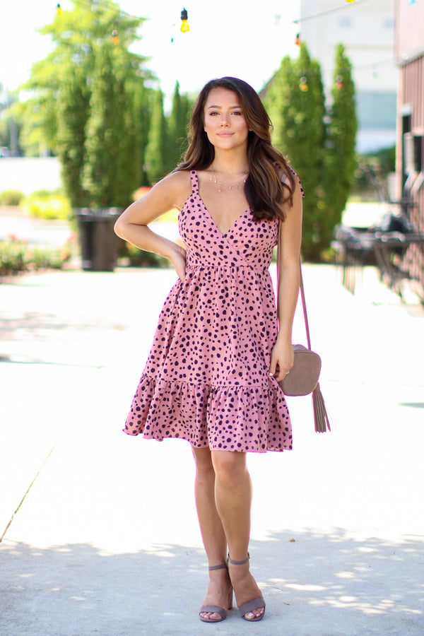 Chase the Thrill Leopard Ruffle Dress - FINAL SALE - Madison and Mallory