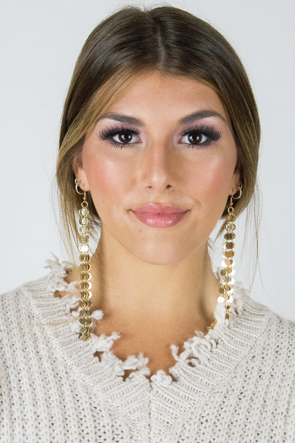 Sequin Coin Dangle Earrings - Madison + Mallory