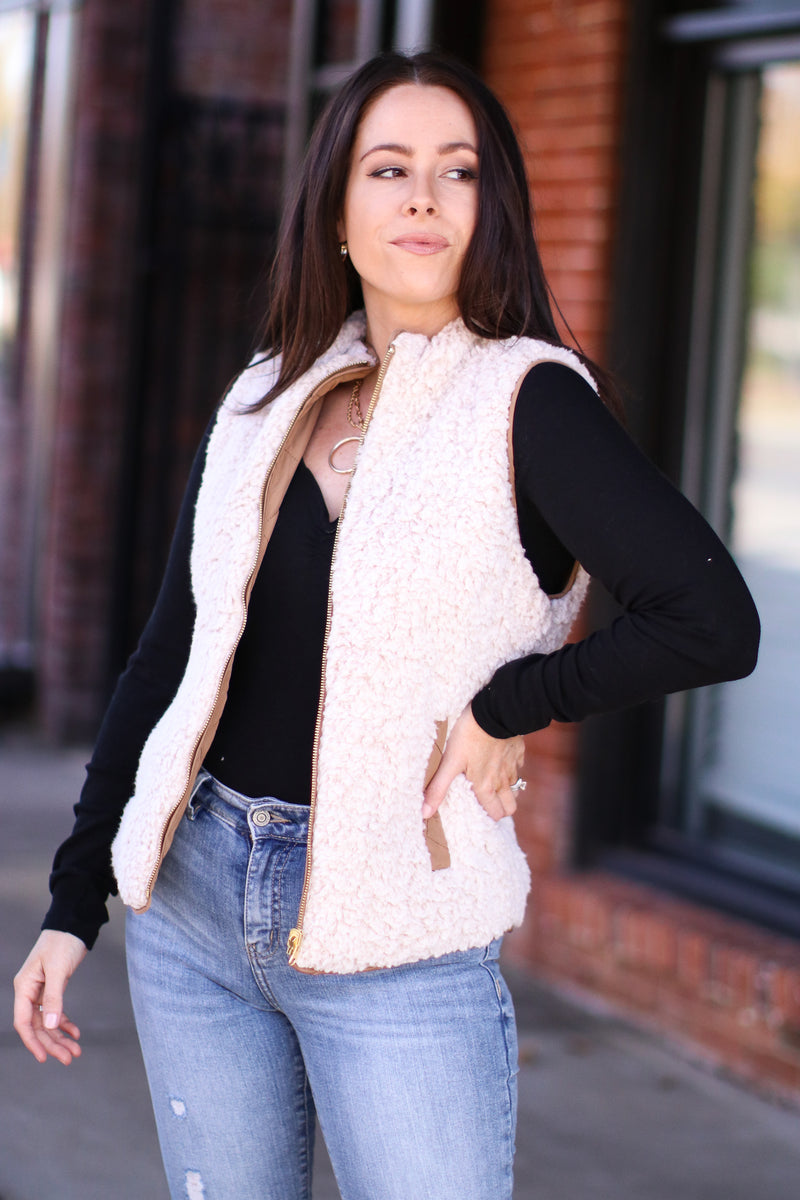 Norridge Reversible Sherpa Quilted Vest | Doorbuster - Madison and Mallory