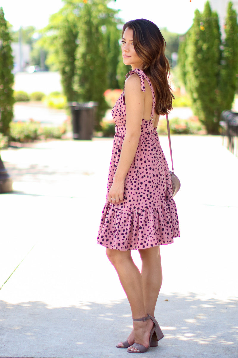 Chase the Thrill Leopard Ruffle Dress - FINAL SALE - Madison + Mallory