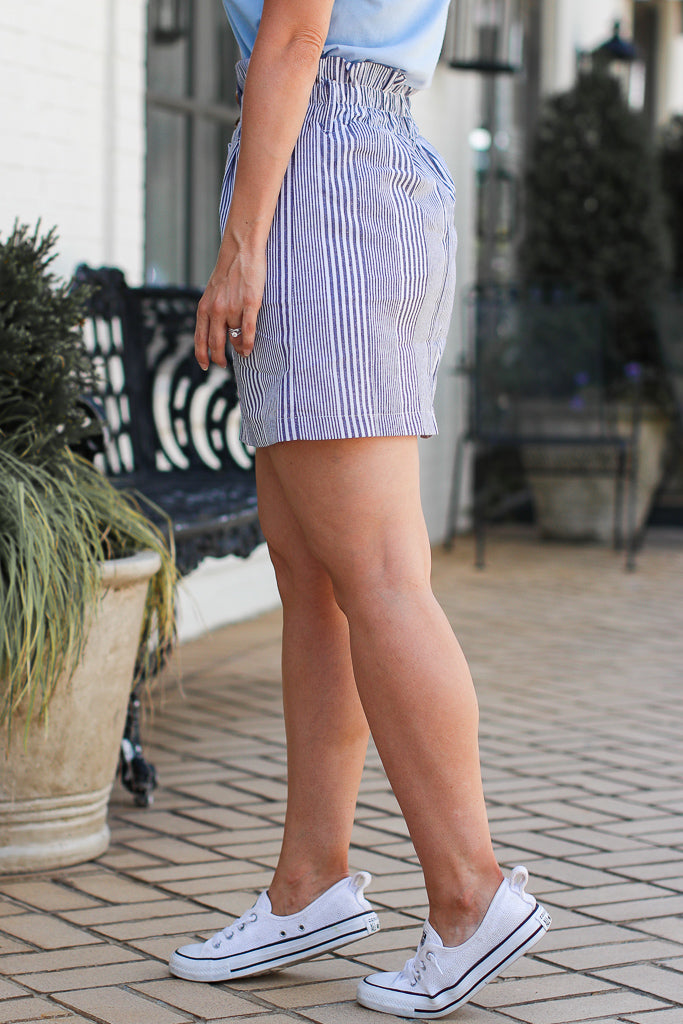 On the Dock Striped Button Skirt | CURVE - FINAL SALE - Madison + Mallory