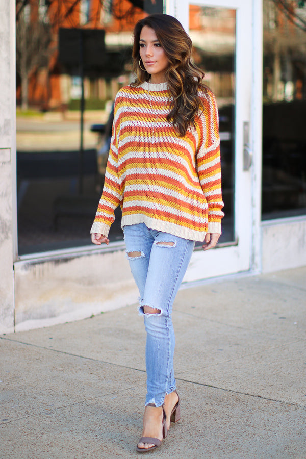 Mustard / S Liam Multi Striped Top + MORE COLORS - FINAL SALE - Madison + Mallory