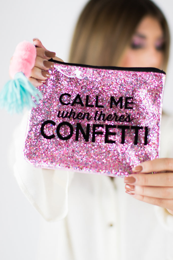 Call Me When There's Confetti Bag - FINAL SALE - Madison + Mallory